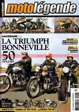 MOTO LEGENDE 202 TRIUMPH BONNEVILLE ZUNDAPP KS 600 YAMAHA RD 350 MOTOBECANE L3
