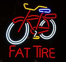 """New Fat Tire Belgian Beer Real Glass Neon Sign 17""""x14"""""""