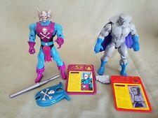 Marvel Iron Man: Gray Gargoyle & Dreadknight Action Figures--ToyBIz--1994 ●