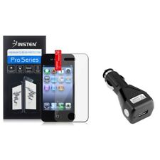 Reusable Screen Protecto Cover for iPhone 4 4S 4G Gen+USB Car Charger Adapter
