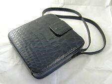 Vintage Lederer De Paris leather & Alligator in black