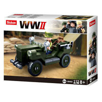 Army Vehicle  Building Blocks WWII Series Building Toy Sluban Kids Army Fighter