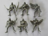 6pcs Cyber Skeleton Fantasy Battles Plastic Toy Soldier 54mm 1/32 scale Tehnolog