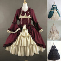 Medieval Renaissance Lolita Victorian Court gown Dress Halloween Cosplay Costume