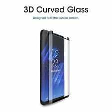 [ CASE FRIENDLY ] Tempered Glass Screen Protector Black For Samsung Galaxy S8