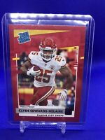 CLYDE EDWARDS-HELAIRE  2020 Donruss Rated Rookie  RED PRESS PROOF  Chiefs