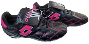 Girls Black/Pink LOTTO Soccer Cleats Shoes, Size 4 **NEW WITH TAGS**