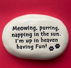 Meowing, purring, napping in the sun... Cat Memorial Garden Stone