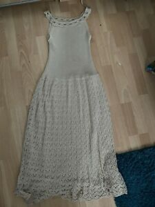 Woollen Dress  Beige Size  10-12 , Boho , Hippy , By Nina Retro Vintage