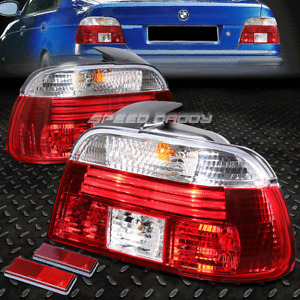 FOR 97-00 BMW 528I 540I M5 E39 RED/CLEAR TAIL LIGHT REAR BRAKE REVERSE LAMPS