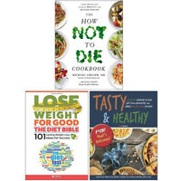How Not To Die Cookbook 100 Recipes Dr Michael Greger 3 Books Collection Set NEW
