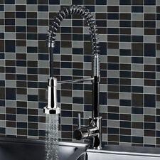 Monobloc Chrome Brass Kitchen Sink Pull Out Stream/Spray Faucet Mixer Tap Modern