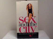 SEX AND THE CITY - HBO THE COMPLETE FIRST SEASON - 3 VHS SET - FREE SHIPPING!!