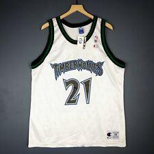100% Authentic Kevin Garnett Vintage Champion Wolves Jersey Size 48 L XL  Mens b6487b236