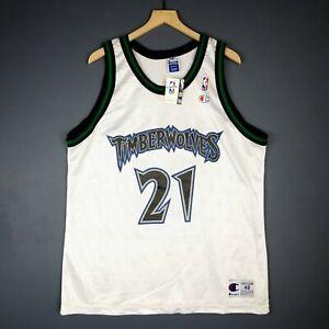 100% Authentic Kevin Garnett Vintage Champion Wolves Jersey Size 48 L XL Mens