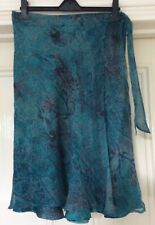 Nougat London Turquoise Silk Skirt Size 10, Immaculate