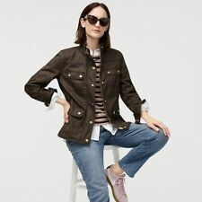 J Crew Women's The Downtown Field Jacket in Mossy Brown Size XSmall MSRP $148