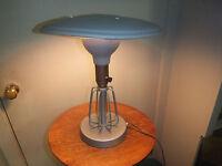 "Antique/Vintage Industrial Table Lamp 14"" Tall - 12"" Diameter"