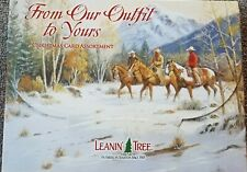 Leanin Tree Christmas Greeting Cards 20 Card Box Set From Our Outfit to Yours