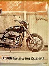 2016 Dateworks Day-at-a-Time Calendar NEW Box Harley-Davidson Motorcycle 860005