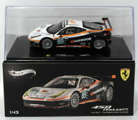Hot Wheels 1/43 Scale Diecast X5498 - Ferrari 458 Italia GT2 - Le Mans 2011