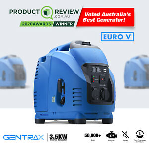 GenTrax Inverter Generator 3.5KW Max 3.0KW Rated Pure Sine Portable Camping