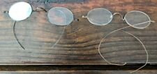 (r)  2 Pair Antique Spectacles TAW & CO Wire Rim Eyeglasses free shipping