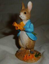 2014 Peter Rabbit with Daffodils Beatrix Potter Mini Figurine Enesco