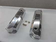 SBF FORD 289 302 POLISHED FABRICATED TALL ALUMINUM VALVE COVERS 8093-8P
