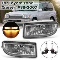 2x Front Bumper Fog Light Driving Lamp Assembly For Toyota Land Cruiser 98-2007