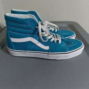 Vans SK8-Hi Off The Wall Men's Size 10 Shoes Blue/White High Top Suede Sneakers