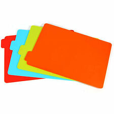 Easy & Free Healing Index Cutting Board SET KITCHEN CHOPPING 4 Colour Boards