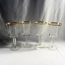 4 Lenox USA Crystal Eternal Gold Trim Barclay Shape Water Glasses  WOW