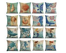 Linen Pillow covers,Mermaid Throw Pillow Cover,Lumbar Pillowcases,for Sofa/Car