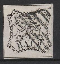 FRANCOBOLLI 1852 STATO PONTIFICIO 8 BAJ BIANCO D/5501