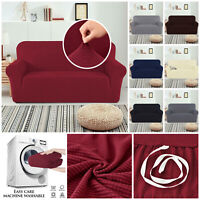 1/2/3 Seater Spandex Sofa Couch Slip Cover Settee Protector Stretch Covers