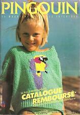 Catalogue tricot PINGOUIN n° 115/ENFANTS 2 à 14 ans/Années 80/34 modèles