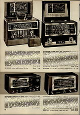 1955 PAPER AD Hallicrafters Shortwave Radio World Wide Capehart Portable Radios