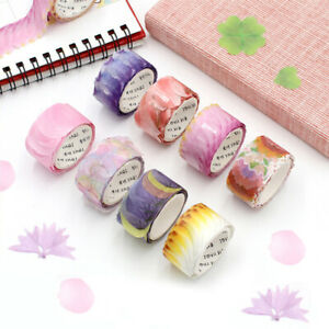 200Pcs/Roll Stationery Petals Washi Tape DIY Stickers Album Craft Supplies Tape