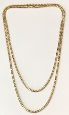 10.7 g - 14K Yellow Gold Clad Sterling Silver Fancy Link Chain Necklace  - 36""