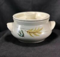 Vintage Franciscan Autumn Leaves Small Covered Serving Bowl Earthenware MCM