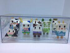Tokidoki Latte Soya Milk Bottle Chocolate Milk Leche Milk Set with Display Case