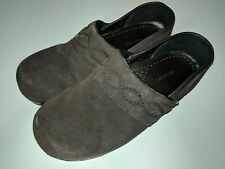 Lands End Shoes Brown Suede Slip On Loafers Mocs Mules Women Size 6 B / 36