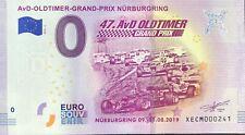 BILLET 0 ZERO EURO AVD OLDTIMER GRAND PRIX NURBURGRING  2019