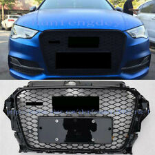 Silver Front Bumper Vent Grilles Grill Refit Fit For 2014-2016 Audi A3 RS3 Style