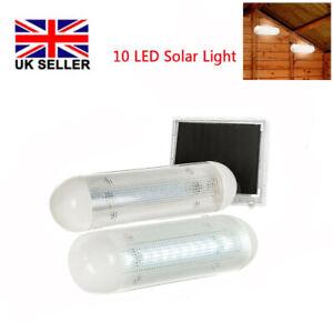 2x Solar Powered LED Light Garage Shed Light Garden Indoor Outdoor + Solar panel