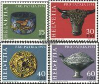 Schweiz 1031-1034 (kompl.Ausgabe) postfrisch 1974 Pro Patria