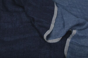 100% LINEN THROW Blanket fluffy reversable Flax