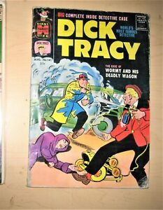 """Dick Tracy Harvey crime comic strip  #141 Chester Gould  Giant """"Wormy"""""""