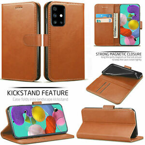 Genuine Leather Wallet Case For Samsung Galaxy A11,A10s,A02,A21s,A31,A41,A51,A71